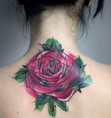 Tatuaj cu floare, Foto: permawkward.tumblr.com