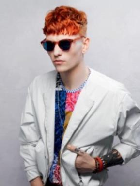 Tunsoare pentru barbati in nuante de roscat, Foto: pokaz-mod.ru