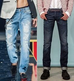Blugi la moda in 2014, creatii Philipp Plein, McQueen-Paul & Joe, Foto: springsummerfashiontrends.com
