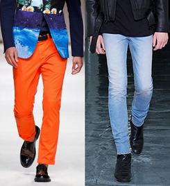 Blugi la moda in primavara anului 2014, marca Moschino, BLK DNM, Foto: springsummerfashiontrends.com