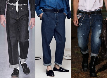 Blugi la moda in primavara anului 2014, marca Sibling, Balmain, Dsquared², Foto: springsummerfashiontrends.com