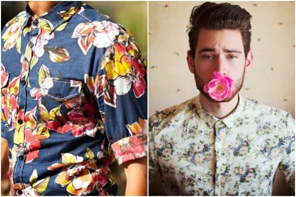 Camasi cu imprimeu floral pentru barbati, Foto: arrumeolaco.blogspot.ro