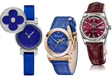 Ceas la moda in primavara lui 2014, creatie Louis Vuitton, Salvatore Ferragamo, Rolex, Foto: springsummerfashiontrends.com