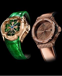 Model de ceas Cecil Purnell, Hublot, Foto: springsummerfashiontrends.com