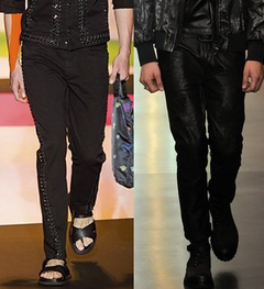 Tendintele la blugi in primavara anului 2014, Creatii Versace, Diesel Negru de aur. Foto: springsummerfashiontrends.com