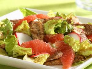 Carne de pui la gratar, grapefruit si salata, Foto: blog.2shopper.com