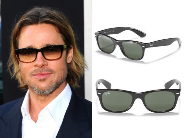 Ochelari de soare Ray Ban la Brad Pitt, Foto: ladiesfashiondesigns.com