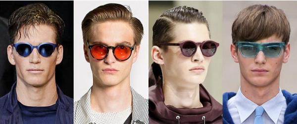 Ochelari de soare cu lentile colorate pentru barbati, marca Emporio Armani, Jonathan Saunders, Dior Homme, Burberry Prorsum, Foto: springsummerfashiontrends.com