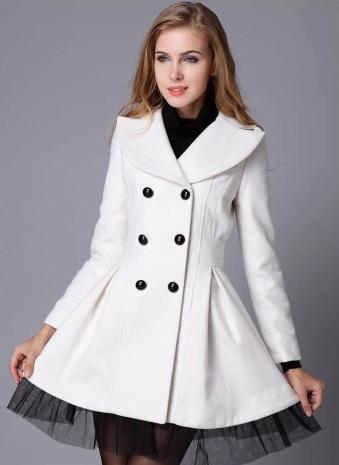 Pardesiu alb la moda in 2014, Foto: coatpant.com