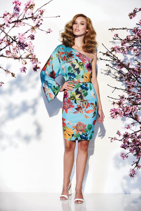 Rochie cu imprimeu floral pentru vara anului 2014, Foto: thebestfashionblog.com