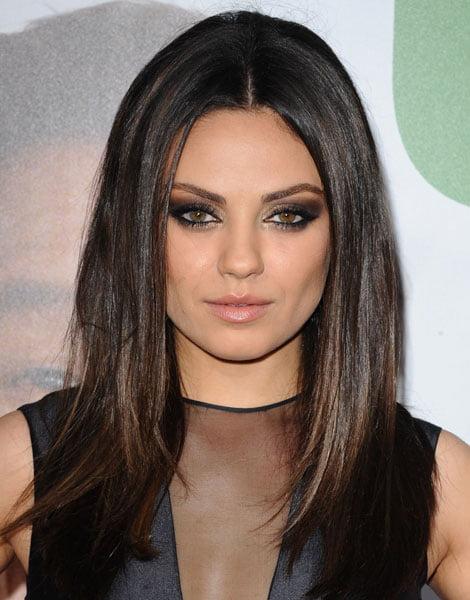 Coafură și machiaj deosebit la Mila Kunis, Foto: aura-b.com