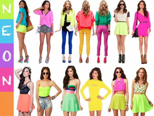 Culoarea neon în tendințele modei din acest an, Foto: fashiontrendznyc.blogspot.com