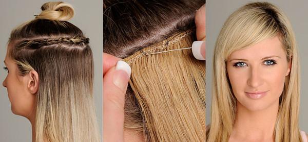 Extensii de păr pentru fir subțire, Foto: plushfh.com
