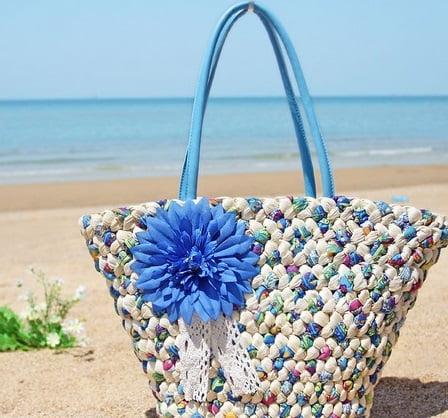 Geantă de plajă din rafie în tendințele din acest an, Foto: aliexpress.com