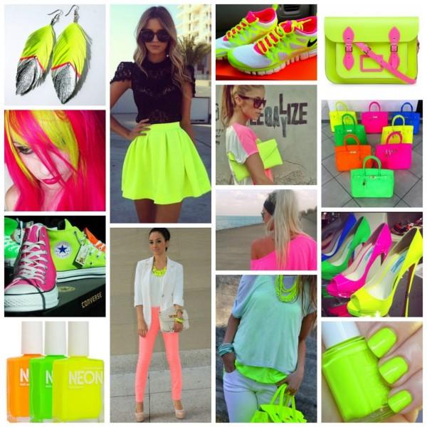 Moda din acest an, accesori și îmbrăcăminte în culori neon vibrante, apnalabel.co.uk