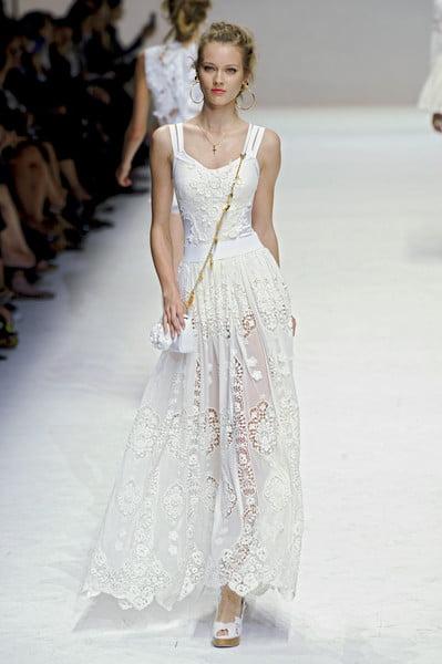 Rochie albă, creație Dolce Gabbana, Foto: lstyle-lisa.blogspot.ro