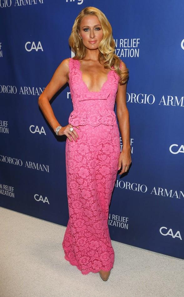 Rochie din dantelă la Paris Hilton, Foto: lablondes.com
