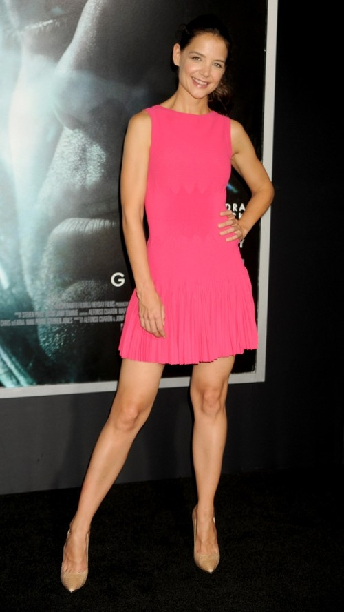 Rochie scurtă elegantă la Katie Holmes, Foto: unica.ro