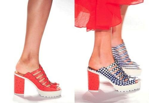 Saboți la modă în anul 2014, creație Nanette Lepore, Foto: dartmouthfashioncouncil.com