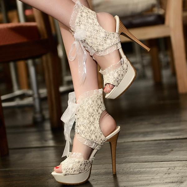 Sandale din dantelă, aliexpress.com