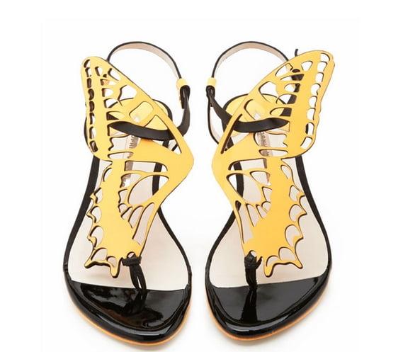 Sandale din piele cu partea de deasupra în formă de fluture, Foto: aliexpress.com