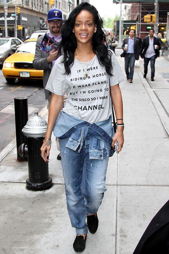Tricou cu mesaj la Rihanna, Foto: glamourmagazine.co.uk