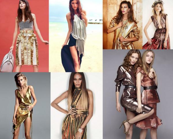 Îmbrăcăminte în culori metalice la modă în acest an, Foto: frillsandthrills.blogspot.ro