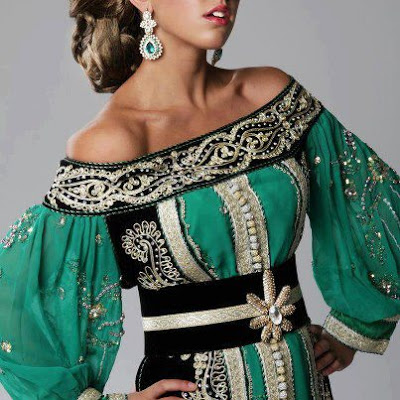 Caftan tradițional marocan, Foto: caftan-chic.blogspot.ro