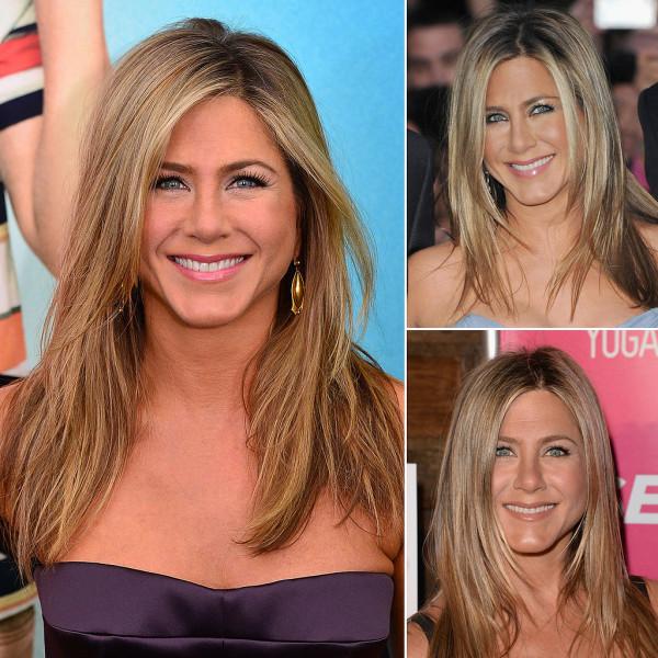 Coafură la Jennifer Aniston, predomină șuvițele blonde de păr, Foto: popsugar.com.au