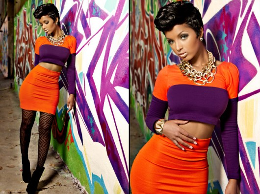 Lola Monroe, Moda color block, Foto: fashion-wars.blogspot.ro