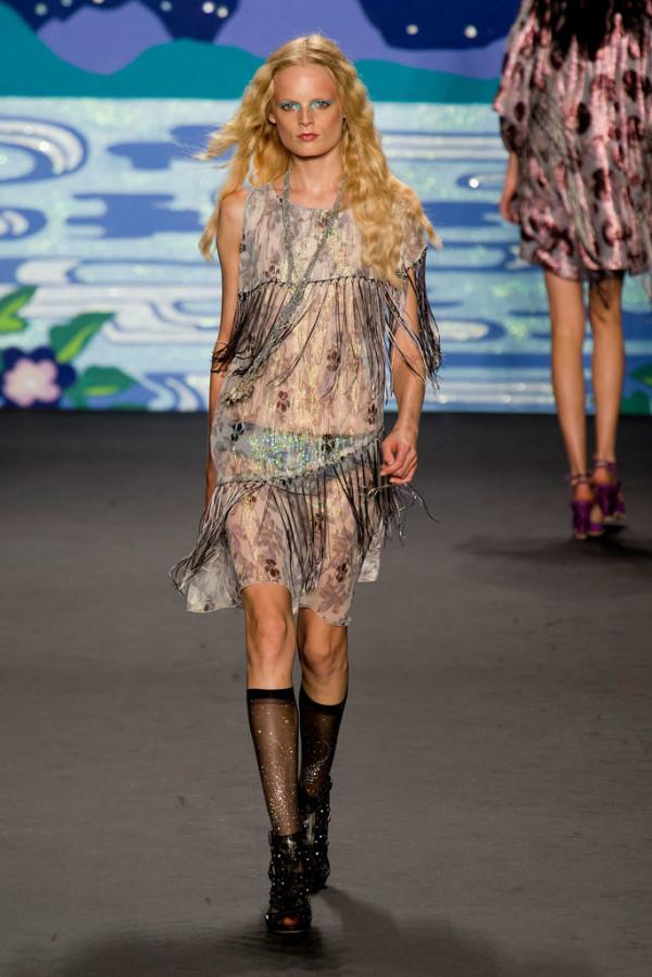 Moda în anul 2014, designer Anna Sui, Foto: fabsugar.com