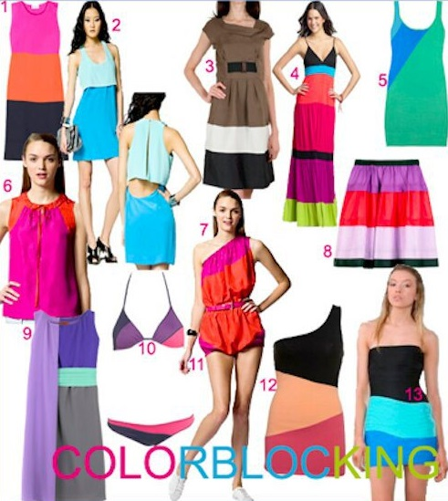 Moda color blocking, Foto: lovelifefashionstyle.wordpress.com