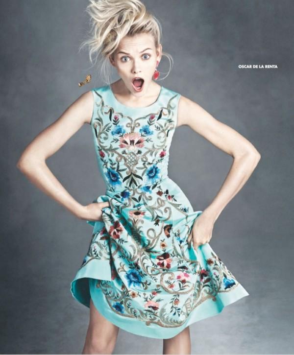 Moda inspirată din artă la Oscar de la Renta, Foto: fashiongonerogue.com