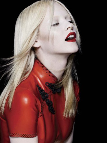 Păr drept blond platinat, Foto: asphereoffashion.wordpress.com
