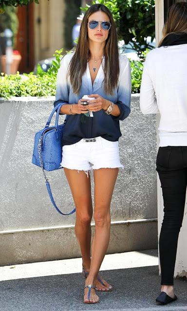 Pantaloni sexy la Alessandra Ambrosio, Foto: socialwardrobe.blogspot.ro