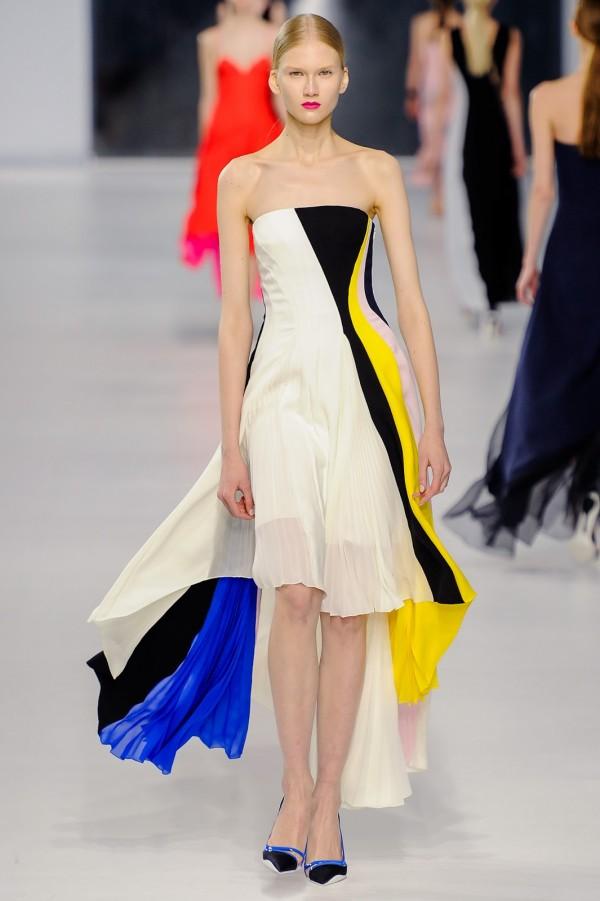 Rochie asimetrică în culori diferite, Foto: got-blogger.com