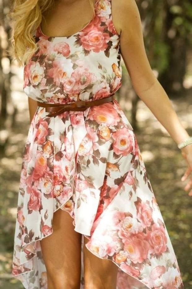 Rochie cu imprimeu floral în tendințele modei din această vară, Foto: justthedesign.com