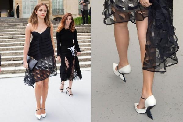 Rochie asimetrică elegantă la Emma Watson, Foto: mirror.co.uk