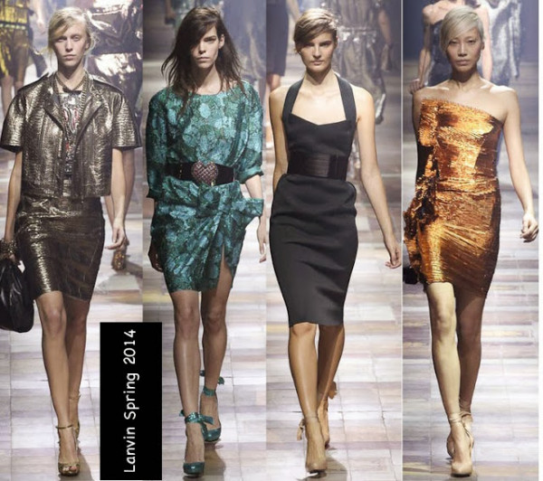 Rochii în culori metalice, Lanvin 2014, Foto: styleforfashions.blogspot.ro