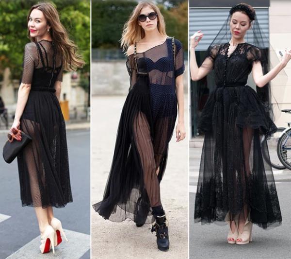Rochii negre transparente la modă în anul 2014, Foto: chiccatalog.com