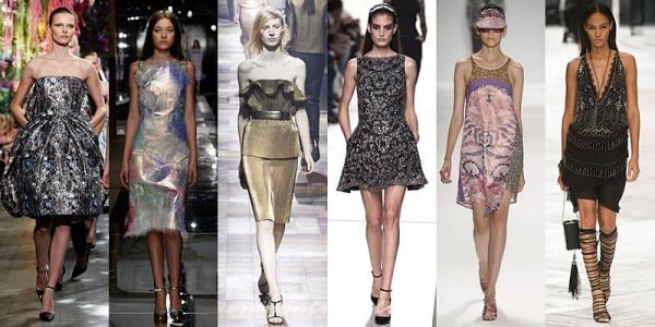 Texturi metalizate în tendințele modei din 2014, Foto: stylishcube.com