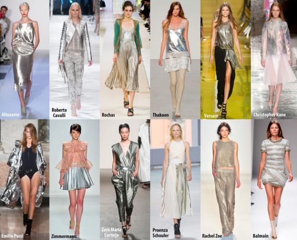 Texturi metalizate argintii la modă în 2014, Foto: frillsandthrills.blogspot.ro