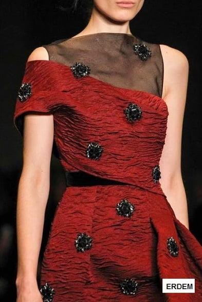 Rochie elegantă de ocazie, colecția Erdem