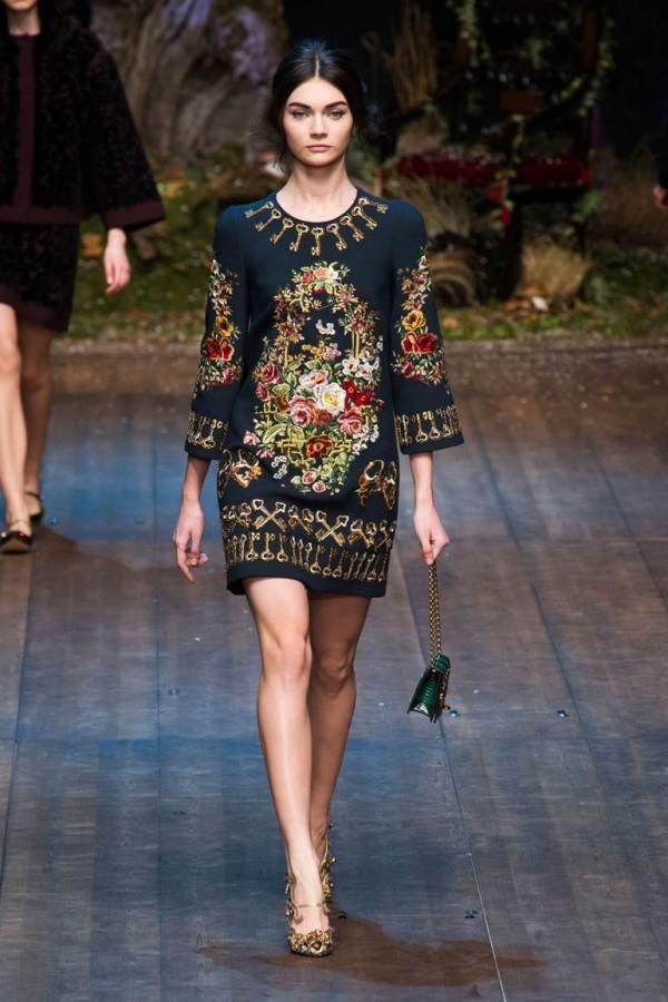 Colecția Dolce&Gabbana din toamna-iarna 2014-2015, Foto: dianadaron.ru