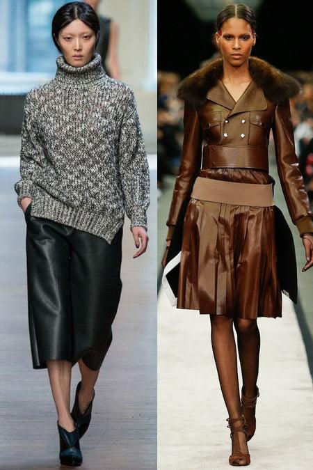 Fuste din piele, creație Givenchy și Yigal Azrouël, Foto: trendy-u.ru