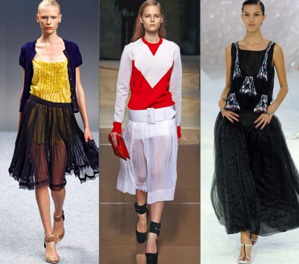 Fuste plisate Gucci, Dior, Foto: vision.com.uavv