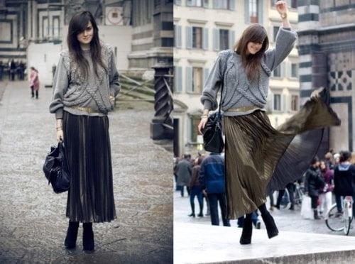 Fuste plisate la modă în 2014, Foto: fcollection.by