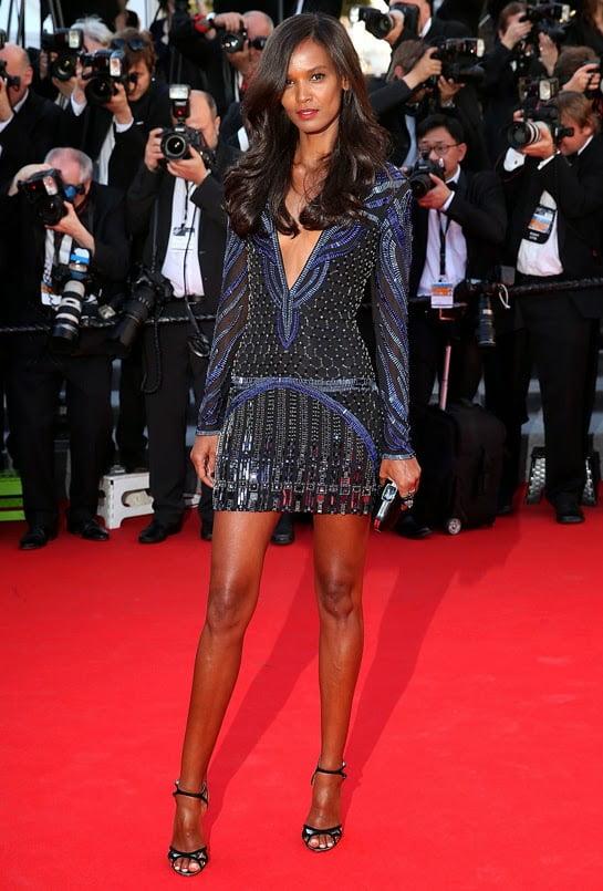 Liya Kebede în rochie marca Roberto Cavalli, Foto: chicchicblingbling.blogspot.ro