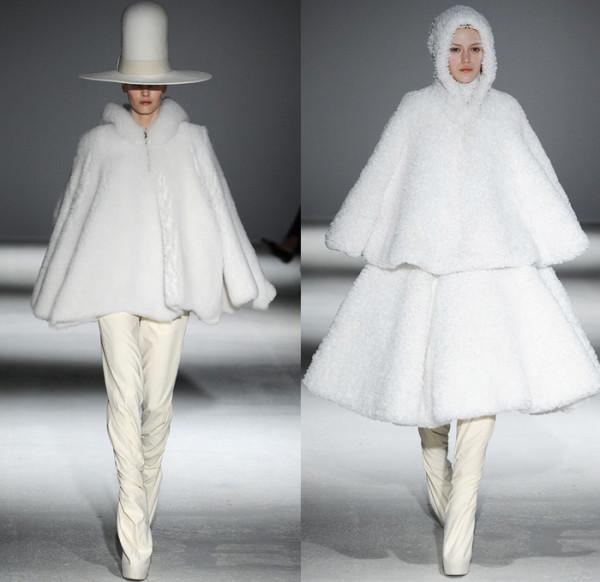 Pelerine de damă la modă în toamna-iarna 2014-2015, marca Gareth Pugh, Foto: denimjeansobserver.com