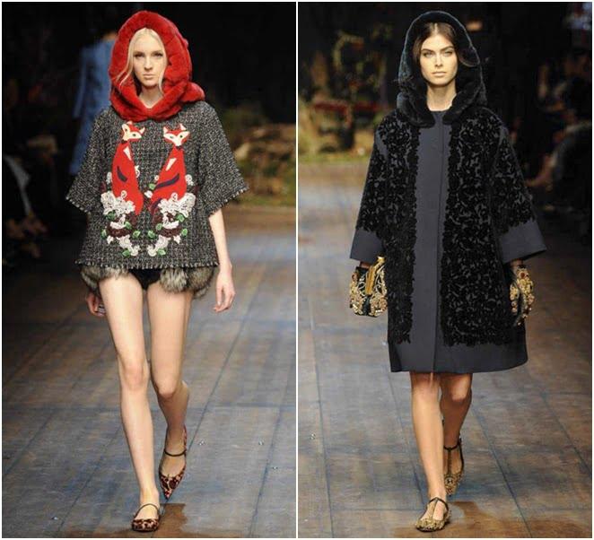 Pelerine la modă în 2014-2015, colecția Dolce &Gabbana, Foto: jetsetter.ua